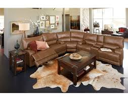 Living Room With Brown Leather Sofas Leather Living Room Furniture American Signature Furniture