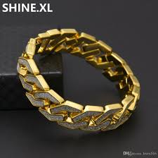 2018 iced out miami cuban link bracelets for men jewelry 3d gold silver color plated mens 15mm wide mens 8 5inch bracelet from livex516 15 23 dhgate