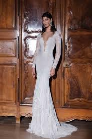 long sleeve v neck lace backless trumpet mermaid wedding dress abb0017