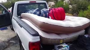 Using an Inflatable Mattress on a truck bed of a Ford Ranger 2006 ...