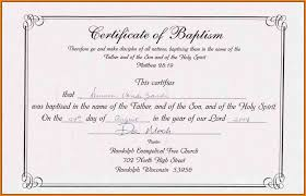 Sample Baptism Certificate Template Magnificent Resume Responsibilities Certificate Of Water Baptism Sample Fresh