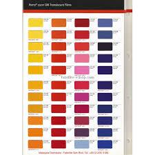 Avery 900 Supercast Colour Chart Avery 5500qm Translucent Film Colour Chart