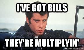 Image result for pay bills meme