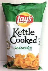 kettle chips jalapeno lays kettle cooked jalapeno potato chips 8 oz lays kettle brand jalapeno chips