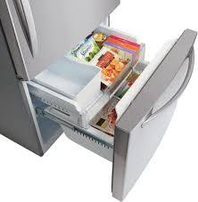 Largest Capacity Refrigerator Lg Ldcs22220s 30 Inch Bottom Freezer Refrigerator With Linear