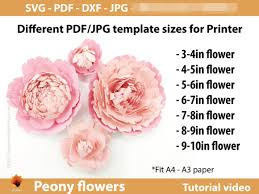 With my free template and step by step. Giant Peony Paper Flowers Template Graphic By Lasquare Info Creative Fabrica