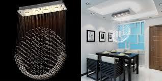 kitchen pretty modern chandelier rain drop 20 24 ella fashion raindrop crystal fixture with rectangular mount