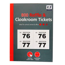 Raffle Ticket Booklets Design Group Cloakroom And Raffle Ticket Book Numbered 1