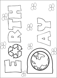 Small Picture Earth Day Coloring Book Pdf coloring page