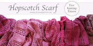Hopscotch Pattern Delectable Hopscotch Scarf Free Knitting Pattern Canadutch
