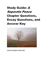 com study guide of a separate peace chapter questions study guide of a separate peace chapter questions essay questions and answer key by