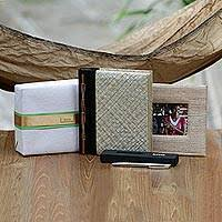 handcrafted hammock journal pen and photo frame kiva adventurer gift set