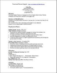 Functional Resume Samples Musiccityspiritsandcocktail Com