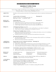 Civil Engineering Resume Examples Brilliant Ideas Of Sample Resume for Internship In Civil 11