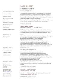 Finance Resume Amazing Financial Analyst CV Sample Interrogating Financial Data Financial