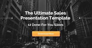 The Epic Sales Presentation Template 12 Winning Slides