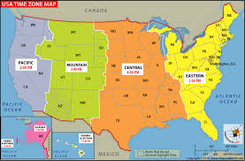 Time Map Usa Time Zone Map Current Local Time In Usa