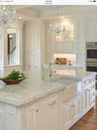 Quartz Kitchen Countertop A Little Too Traditional And Never Any Chandeliersbut Yes To