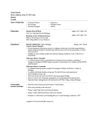 Resume Format For Social Worker Mesmerizing Resume Sample Social Worker Resume Sample Hospital Social Worker