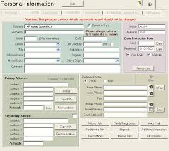 basic personal information form people database help