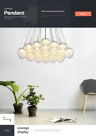 Modern LED chandelier lighting Nordic <b>Glass ball</b> Lamp <b>living</b> room ...