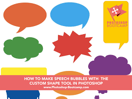 Draw straight lines in photoshop. How To Make Speech Bubbles Using The Custom Shape Tool In Photoshop Photoshop For Beginners