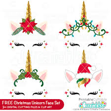 These free unicorn svg cut files and graphics will be an amazing addition to your cutting files and craft collections and are perfect for gifts, decor this is a popular design for a unicorn face svg graphic but it has a gold, glitter horn. Christmas Unicorn Face Free Svg Bundle Free Svg Files