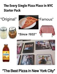 Pizza Vending Machine Nyc Cool The Every Single Pizza Place In NYC Starter Pack Starterpacks