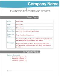 Report Performance Tradeshow Management Turnaround Template Exhibiting Post Show –