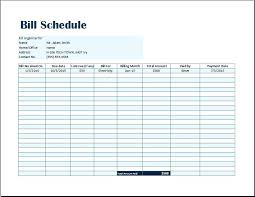 Microsoft Schedule Templates Excel Paycheck Template Bill Payment Schedule Template Word Excel