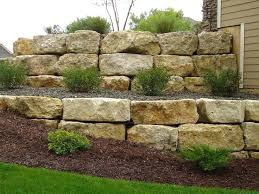 decorative rock walls retaining wall this is how the wall falls over needs  of clear drainage . decorative rock walls ...