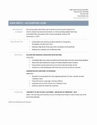 Resume Sample For Accounting Assistant Accounting Clerk Resume Sample Standart Portrayal New 24 Example Job 6