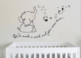we made a wish baby elephant great elephant wall decal