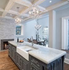 transitional kitchen lighting. the countertop in this kitchen are u201cquartzite sea pearlu201d quartzite is a natural transitional lighting g