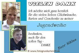 Dankeskarten Jugendweihe Mit Ihren Fotos Wunschtext Gestaltet