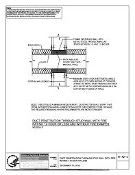 metal stud framing details. Thumbnail Of M-A2-2 Duct Penetration Through Stud Wall Metal Framing Details