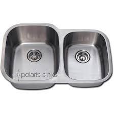 polaris 32 x 20 16 gauge offset double bowl stainless steel undermount sink