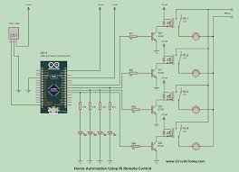 Fan And Light Remote Control Circuit Home Automation Using Ir Remote Control Working Pcb Code