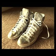 reebok high tops classic. reebok shoes - vintage classic high tops silver