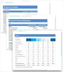 Financial Summary Template Template Template Financial Statement 10