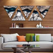 designart x27 backlit mineral macro x27 contemporary triangle canvas wall art on backlit canvas wall art with shop designart backlit mineral macro contemporary triangle canvas