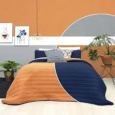 navy and orange bedding orange blue navy comforter double view full size navy orange plaid bedding