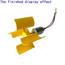 DIY Mini Dc Motor Vertical Micro Wind Turbines Blades Generator Set