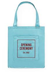 Opening Ceremony, Blue Glitter <b>Tote Bag</b> For <b>Summer 2017</b>, OC ...