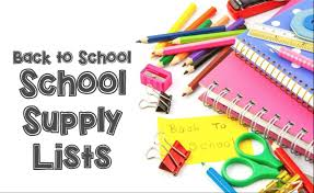 Image result for supply lists for elementary school