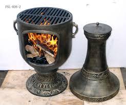 cast iron chiminea outdoor fireplace