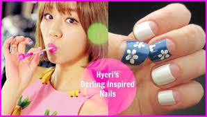 Kpop Nail Art | Girl's Day HYERI 'Darling' Inspired Nails - YouTube