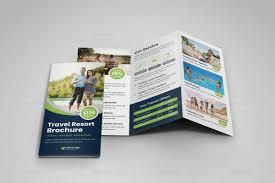 Travel Resort Trifold Brochure Design V3
