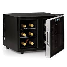 wine enthusiast silent 12 bottle 2 temp touchscreen wine glass door mini refrigerator