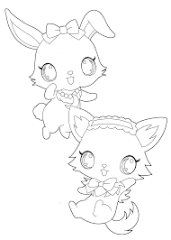 Funny Pets From Jewelpet Characters Coloring